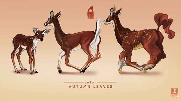 Autumn Leaves Exclusive Deer by Blackpassion777