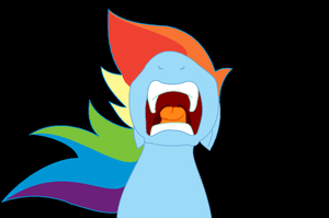 Screaming Rainbow Dash by cdla