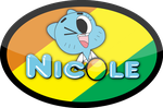 T:Nicole Watterson's badge Oval(W.Logo and Ch.) by Josael281999