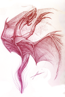 Soul of Fire Dragon-sketch by Malavii
