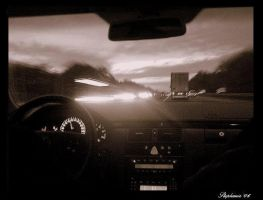 Highway by night by Stephanie4