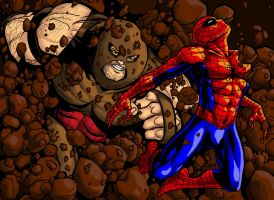 Spidey vs Juggernaut by Mumah