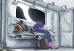 Subway Nap by Draikinator