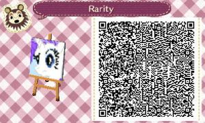 Rarity Animal Crossing Pattern QR Code by PrismsPalette