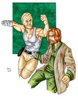 Nub Fight: Merle Dixon vs Jaime Lannister by ibroussardart