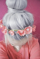 Voilet hair with flowers by sexypaige100