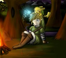 Link and Pikachu by October-Shadows