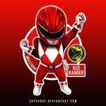 chibi red rangers by superddy