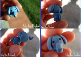 Baby Blue Elephant by cupcakecutiefriends