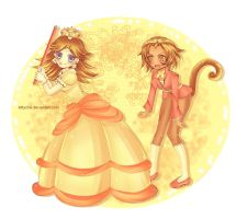 Daisy and SonSon by kittychiii