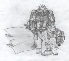 Space Marine Chapter Master by klintoxicity