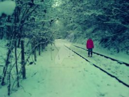 Down Those Snowy Tracks by sora-kairi-riku