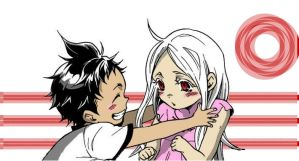 Ganta and shiro's childhood by Amaiaya
