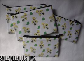 Animal Crossing: Isabelle Zipper Pouch - FOR SALE by SmileAndLead