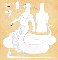 Tom as naga - reference by Aniusia483