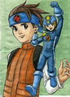 Megaman Giftart - Coloured by heatherbunny