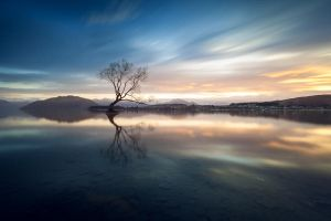 sunrise over wanaka by Katoman