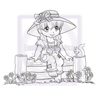 Lily Sitting on a Fence by OtakuEC