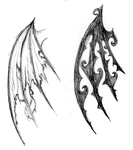 wing tattoo sketches by wardy360
