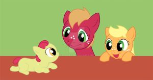 MLP - Apple Family Foals by ajremix