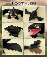 Toothless Plush by Kegawa