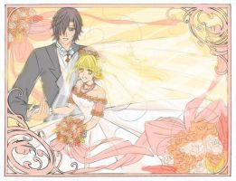 Wedding for Miss_Saturn by KitKatKitsune88