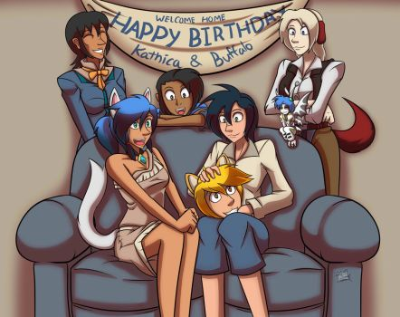 Welcome Home Birthday by Azure-Arts