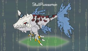Skullpwasomon by puka23