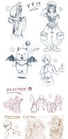 Some Random Sketches by Yotsuba-no-Clover