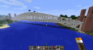 Minecraft 02 - Sydney Harbor Bridge by greenjinjo