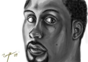 larry hughes digital painting by tianyi
