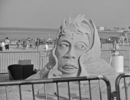 The Finished Face In Sand by Miss-Tbones