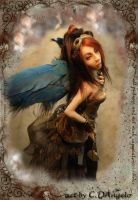 Steampunk Angel Time Traveler by cdlitestudio