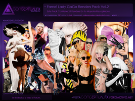 Lady GaGa Renders Pack Vol.2 by mikeamadeuz