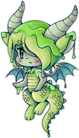 Chibi Slime Dragon ::Commission:: by YamPuff