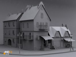cartoon 3d street by AndexDesign