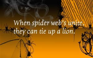 Spider proverb by PJ987