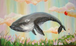 Sky Whale by Lavenderwitch