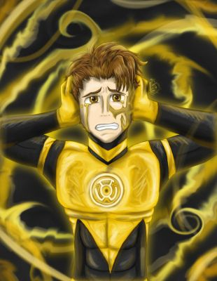 Yellow Lantern-Jacuzzi by SpamCrackers