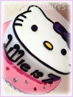 Hello Kitty Cake by gertygetsgangster