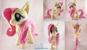 Fluttershy Plushie 2.0 by dollphinwing