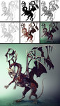 Paint a Zombie Dragon step by step by LadyAway