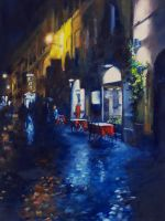 Streets of Rome- Oil Painting by AstridBruning