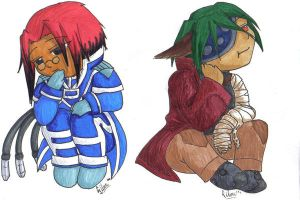 Chibi colored examples by silver-dragonetsu