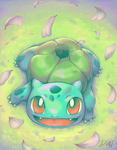 Bulbasaur used Petal Dance by AdamantShimmer