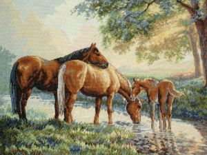 Horses By A Stream by EnigmaticWriterGirl
