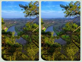 View on Rathen 3D ::: HDR 3D Cross Eye by zour