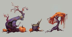 Halloween trees by Nieris