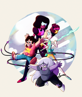 The Crystal Gems by SyraSenturi