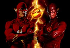 The Flash then and now by Brandtk
